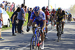 Riders including Arnaud Demare (FRA) FDJ come off pave sector 10 Merignies a Avelin during the 115th edition of the Paris-Roubaix 2017 race running 257km Compiegne to Roubaix, France. 9th April 2017.<br /> Picture: Eoin Clarke | Cyclefile<br /> <br /> <br /> All photos usage must carry mandatory copyright credit (&copy; Cyclefile | Eoin Clarke)