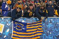 Morgantown, WV - November 19, 2016: West Virginia Mountaineers fans during game between Oklahoma and WVU at  Mountaineer Field at Milan Puskar Stadium in Morgantown, WV.  (Photo by Elliott Brown/Media Images International)