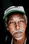 An aging Cuban of Chinese descent, in Barrio Chino, Havana, Cuba, on Wednesday, April 17, 2008. The Chinese immigrants who remain in Cuba didn't have enough money to leave the island at the beginning of the Cuban revolution.