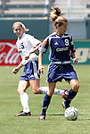 27 June 2004: Mandy Clemens (9) and Jennifer Tietjen-Prozzo. The Philadelphia Charge defeated the San Jose CyberRays 2-0 at the Home Depot Center in Carson, CA in Womens United Soccer Association soccer game featuring guest players from other teams.