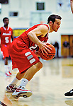 12 December 2010: Marist College Red Foxes' guard Candon Rusin, a Sophomore from Surf City, NC, in action against the University of Vermont Catamounts at Patrick Gymnasium in Burlington, Vermont. The Catamounts (7-2) defeated the Red Foxes 75-67 notching their 7th win of the season, and their best start since the '63-'64 season. Mandatory Credit: Ed Wolfstein Photo