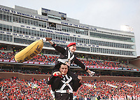 Members of The Ohio State University Marching Band celebrate a first half touchdown against the Illini at Memorial Stadium in Champaign, Illinois on November 16, 2013.  (Chris Russell/Dispatch Photo)