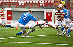 Hamilton Accies v St Johnstone...16.08.14  SPFL<br /> Dave Mackay's header hits the post<br /> Picture by Graeme Hart.<br /> Copyright Perthshire Picture Agency<br /> Tel: 01738 623350  Mobile: 07990 594431