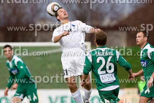 Danijel Rakuscek of Gorica at 29th Round of 1st Slovenian football league match between NK Olimpija Ljubljana and HIT Gorica, on April 3, 2010, in ZAK stadium, Ljubljana, Slovenia. Olimpija defeated HIT Gorica 5-0.  (Photo by Vid Ponikvar / Sportida)