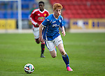 St Johnstone Academy v Manchester Utd Academy&hellip;.06.05.16  McDiarmid Park, Perth<br />Euan O&rsquo;Reilly<br />Picture by Graeme Hart.<br />Copyright Perthshire Picture Agency<br />Tel: 01738 623350  Mobile: 07990 594431