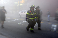 Fire breaks out on tracks at West 43rd and 10th Avenue in New York City