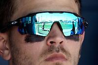 SAN ANTONIO, TX - FEBRUARY 18, 2017: The University of Texas at San Antonio Roadrunners split a double header (12-1, 7-8 in 11 innings) with the Quinnipiac University Bobcats at UTSA Roadrunner Field. (Photo by Jeff Huehn)