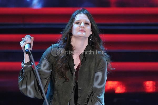 Irene Fornaciari at the 62nd Annual Sanremo Festival of Music in Sanremo, Italy. February 14, 2012. ***NO ITALY***