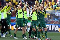 Slovenia players celebrate their win against Algeria