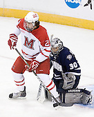Justin Vaive (Miami - 22), Matt DiGirolamo (UNH - 30) - The University of New Hampshire Wildcats defeated the Miami University RedHawks 3-1 (EN) in their NCAA Northeast Regional Semi-Final on Saturday, March 26, 2011, at Verizon Wireless Arena in Manchester, New Hampshire.