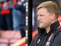 Bournemouth manager Eddie Howe prior to kick off <br /> <br /> Photographer Ian Cook/CameraSport<br /> <br /> The Premier League - Bournemouth v Burnley - Saturday 13th May 2017 - Vitality Stadium - Bournemouth<br /> <br /> World Copyright &copy; 2017 CameraSport. All rights reserved. 43 Linden Ave. Countesthorpe. Leicester. England. LE8 5PG - Tel: +44 (0) 116 277 4147 - admin@camerasport.com - www.camerasport.com