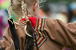 A girl dances at the 8th annual Red Wing Native American PowWow.