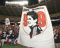 Barra Brava section during festivities surrounding the final appearance of Jaime Moreno in a D.C. United uniform, at RFK Stadium, in Washington D.C. on October 23, 2010. Toronto won 3-2.