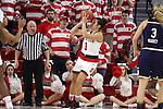 29 December 2016: NC State's Aislinn Konig (CAN). The North Carolina State University Wolfpack hosted the University of Notre Dame Fighting Irish at Reynolds Coliseum in Raleigh, North Carolina in a 2016-17 NCAA Division I Women's Basketball game. NC State won the game 70-62.