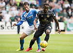 St Johnstone v Celtic&hellip;20.08.16..  McDiarmid Park  SPFL<br />Moussa Dembele is closed down by Brad McKay<br />Picture by Graeme Hart.<br />Copyright Perthshire Picture Agency<br />Tel: 01738 623350  Mobile: 07990 594431