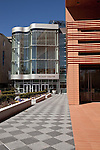 March 6, 2010. Charlotte, North Carolina.. Over the last year, several museums and cultural institutions have opened within a 5 block radius of each other, adding another facet to downtown Charlotte.. The Knight Theater, which opened next to Bechtler Museum of Modern Art.