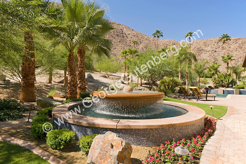 Residential Water Feature In Back Yard Stock Photography Archive S P A