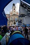 """The movement Real democracy now and 15 M """" appeared on 15 May, remain encamped in Puerta del Sol in Madrid to protest against the political and financial situation in Spain.///.El movimiento """" Democracia real ya y 15 M """" surgido el 15 de mayo, acampa en la Puerta del Sol de Madrid en protesta por la situacion politico - finaciera en España. Photo by Jose Luis Cuesta"""