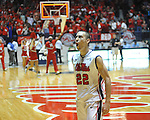 Ole Miss' Marshall Henderson (22) celebrates the win vs. Missouri at the C.M. &quot;Tad&quot; Smith Coliseum on Saturday, January 12, 2013. Ole Miss defeated #10 ranked Missouri 64-49.