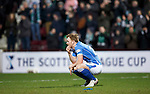 Hibs v St Johnstone...30.01.16   Utilita Scottish League Cup Semi-Final, Tynecastle..<br /> A dejected Liam Craig at full time<br /> Picture by Graeme Hart.<br /> Copyright Perthshire Picture Agency<br /> Tel: 01738 623350  Mobile: 07990 594431