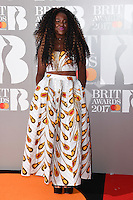 Nao - Neo Jessica Joshua at the 2017 Brit Awards at the O2 Arena in London, UK. <br /> 22 February  2017<br /> Picture: Steve Vas/Featureflash/SilverHub 0208 004 5359 sales@silverhubmedia.com
