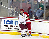 Bill Arnold (BC - 24), Matt Grzelcyk (BU - 5) - The Boston College Eagles defeated the visiting Boston University Terriers 5-2 on Saturday, December 1, 2012, at Kelley Rink in Conte Forum in Chestnut Hill, Massachusetts.