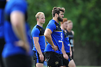 Guy Mercer of Bath Rugby looks on. Bath Rugby training session on August 4, 2015 at Farleigh House in Bath, England. Photo by: Patrick Khachfe / Onside Images