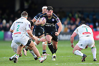 Nathan Catt of Bath Rugby takes on the Pau defence. European Rugby Challenge Cup match, between Bath Rugby and Pau (Section Paloise) on January 21, 2017 at the Recreation Ground in Bath, England. Photo by: Patrick Khachfe / Onside Images