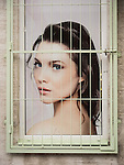 Woman behind bars, Belgrade, Serbia