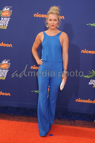16 July 2015 - Westwood, California - Lindsey Vonn. Nickelodeon Kids Choice Sports Awards 2015 held at the UCLA Pauley Pavilion. Photo Credit: Byron Purvis/AdMedia