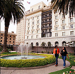 The Fairmont San Francisco's rooftop garden is accessible to the public.