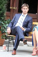 Chace Crawford y Blake Lively en el Set de  Gossip Girl