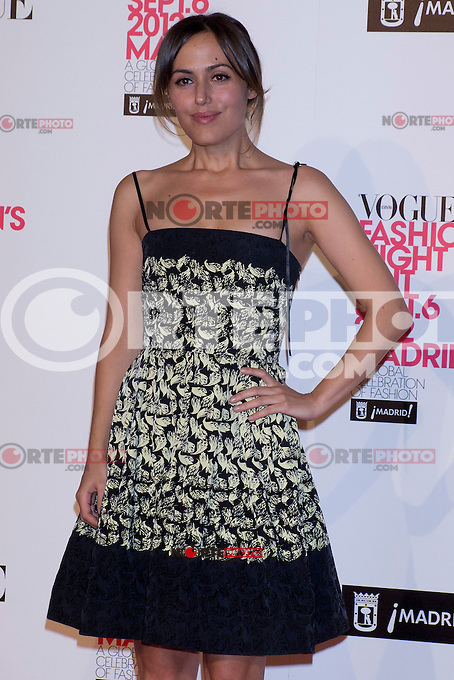 06.09.2012. Vogue Fashion&acute;S Night Out Madrid. In the image Irene Montala  (Alterphotos/Marta Gonzalez) /NortePhoto<br />