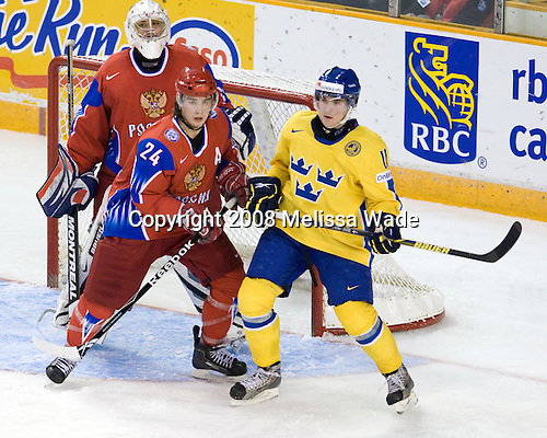 Russia 5-0 on wednesday, december 31, 2008, at ottawa civic centre