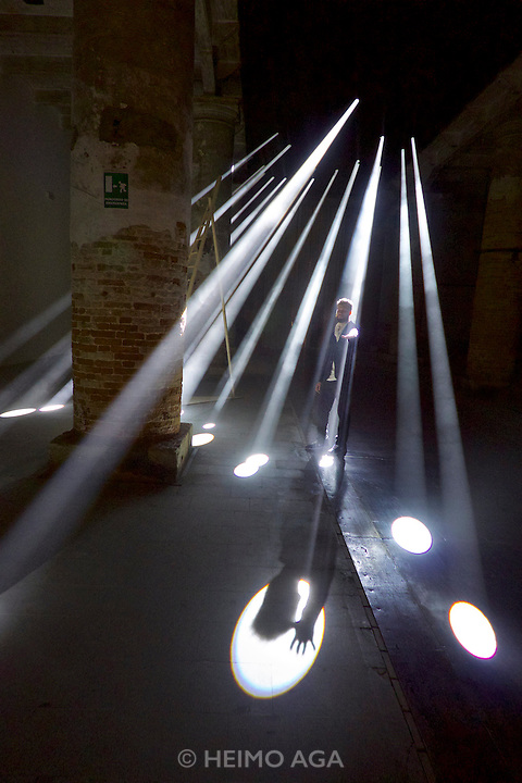 Venice, Italy - 15th Architecture Biennale 2016, &quot;Reporting from the Front&quot;.<br /> Arsenale.<br /> The Work of Transpolar and their Contribution to Sustainability.<br /> With Anja Thierfelder.