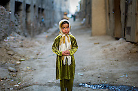 Young girl in the street of Kabul, Afghanistan 2007.