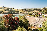Streets of Akaroa Harbour, Banks Peninsula, East Coast, South Island, New Zealand