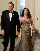 Terry McAuliffe and his wife, Dorothy, arrive for the Official Dinner in honor of Prime Minister David Cameron of Great Britain and his wife, Samantha, at the White House in Washington, D.C. on Tuesday, March 14, 2012..Credit: Ron Sachs / CNP.(RESTRICTION: NO New York or New Jersey Newspapers or newspapers within a 75 mile radius of New York City)