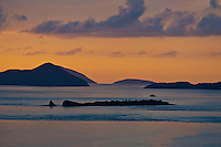 Sunset over St Thomas<br />