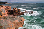 Storm waves along the Shore Path in Acadia National Park, Maine, USA