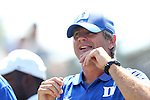 31 August 2014: Duke head coach John Kerr. The Duke University Blue Devils hosted the Stetson University Hatters at Koskinen Stadium in Durham, North Carolina in a 2014 NCAA Division I Men's Soccer match. Duke won the game 8-2.