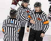 CJ Hanafin, Bob Bernard, Scott Hansen - The Boston College Eagles defeated the visiting Providence College Friars 3-1 on Friday, October 28, 2016, at Kelley Rink in Conte Forum in Chestnut Hill, Massachusetts.The Boston College Eagles defeated the visiting Providence College Friars 3-1 on Friday, October 28, 2016, at Kelley Rink in Conte Forum in Chestnut Hill, Massachusetts.
