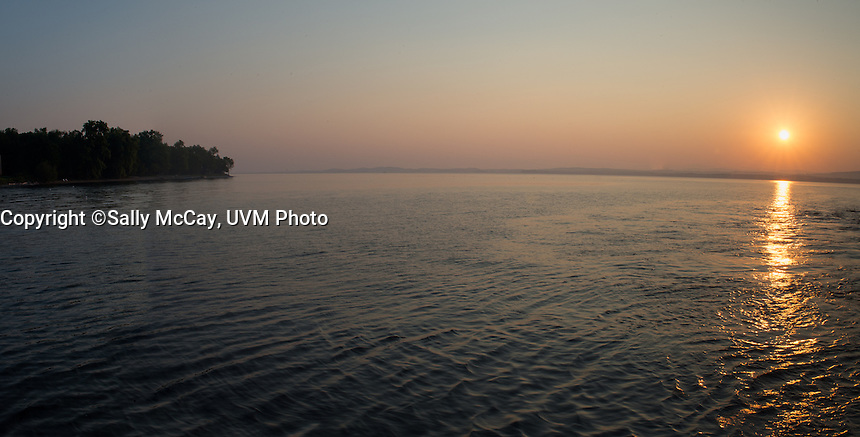 Early morning views on Lake Champlain near Charlotte, Vermont.