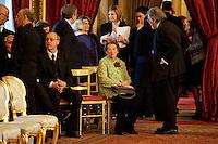 Roma, 28 Aprile  2013.Il governo Letta giura al Quirinale. Clio Maria Bittoni moglie di Giorgio Napolitano..