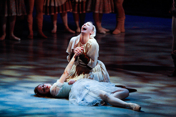Cathy Colbert and Racheal Hummel perform during Nevada Ballet Theatre's 'Giselle' on the campus of UNLV.