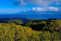 View Of Kapaua Resort & Molokai From West Maui Mountains