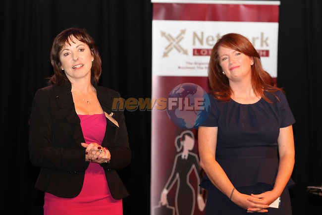 Orlaith Carmody, mediatraining.ie and Ciara Conlon, authur of Chaos to Control at Network Ireland National Conference and Businessswomen of the Year Awards 2012 - Friday 28th September in Drogheda, Co. Louth..Photo NEWSFILE/Jenny Matthews.