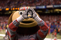 Ohio State Buckeye Mascot is pictured during 77th Annual Allstate Sugar Bowl Classic at Louisiana Superdome in New Orleans, Louisiana on January 4th, 2011.  Ohio State defeated Arkansas, 31-26.