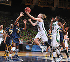 Mar 20, 2012; Natalie Novosel goes up for a shot in the 73-62 win over Califorinia in the second round of the 2012 NCAA tournament...Photo by Matt Cashore/University of Notre Dame