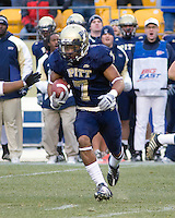November 28, 2008. Pitt defensive back Jovani Chappel returns an interception. The Pitt Panthers defeated the West Virginia Mountaineers 19-15 on November 28, 2008 at Heinz Field, Pittsburgh, Pennsylvania.